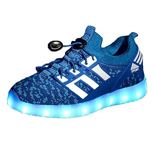 Envio 24 Horas Usay like Zapatillas LED Con 7 Colores Luces Carga USB Rosa Azul Negro Unisex Niños Talla 25 hasta 34 Envio Desde España: Amazon.es: Zapatos ...