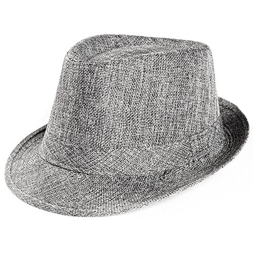Unisex Straw Hat Solid Color Breathable Top Cap Summer Outdoor Sun Protection Hat Visors Baseball Cap Fishmen Hat (Gray) ()