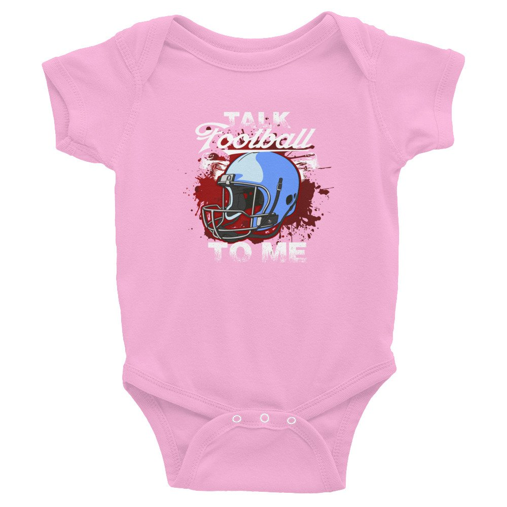 Fabby Gifts Funny Talk Football to Me Baby Toddler Infant Bodysuit