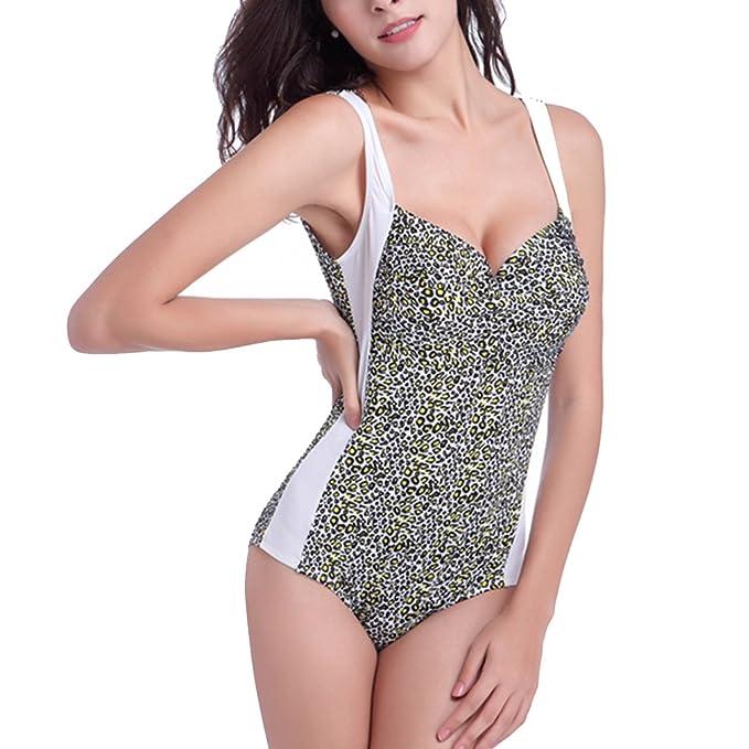 3c4b1995a4 BOYANN Plus Size Dot Printing Swimwear for Women Tummy Hide One Piece  Swimsuits Bikini