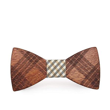 Corbatas de lazo para hombre Estuche Granos de madera Corbatas de ...