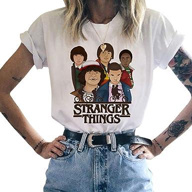 Camiseta Stranger Things Niñas, Stranger Things Camisetas De Manga Corta Mujer Stranger Things Impresión De Adolescente Chicas T-Shirt Camisetas De Primavera Y Otoño Camisetas: Amazon.es: Ropa y accesorios