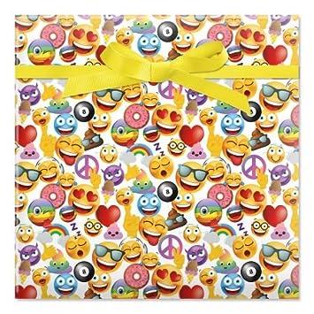 Emoji Jumbo Rolled Birthday Gift Wrap