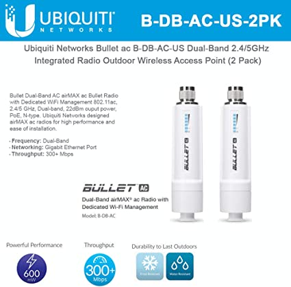 Ubiquiti AirMax AC B-DB-AC-US Bullet AC US Version. Dual-Band