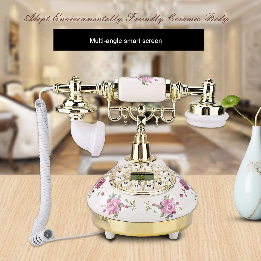 Retro Landline Phone Old Fashioned Antique Corded Princess Phone for Home Office House Decor YINUODAY Vintage Rotary Phone