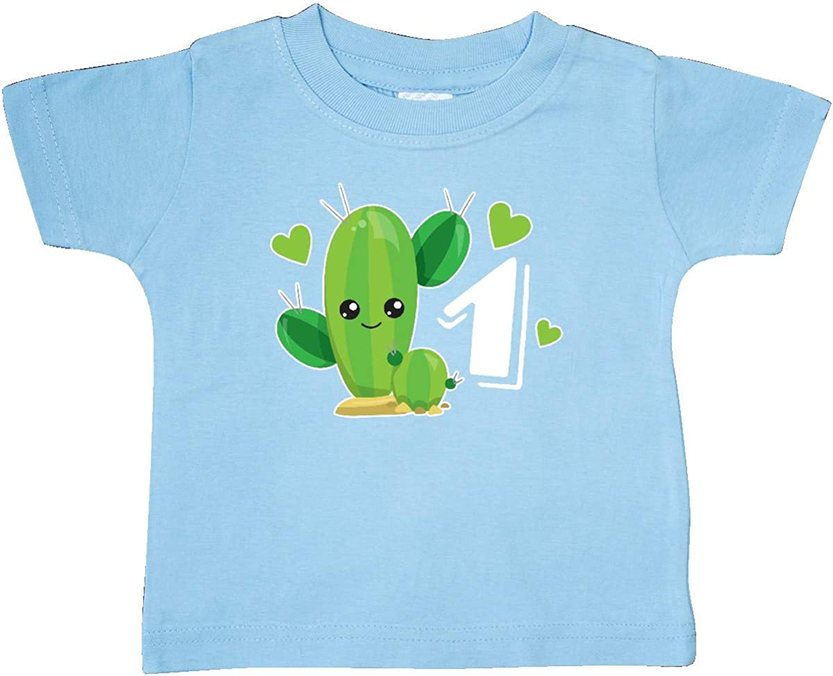 inktastic Im 1 with Cute Cactus and Hearts Baby T-Shirt