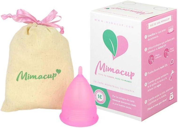 Mimacup Copa menstrual, Rosa, talla L