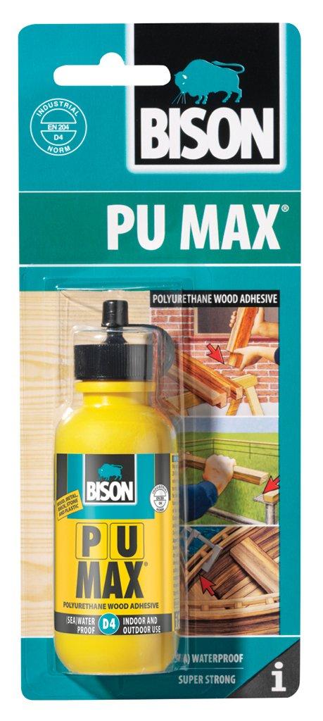 12 x 6305297 Bison PU Max D4 75g Polyurethane Interior Exterior indoor Outdoor Wood Adhesive Glue Super Strong