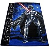 Kinderspielteppich - Kinder Teppich 133x95cm - Spielteppich - Star Wars Teppich mit Motivauswahl (Darth Vader)