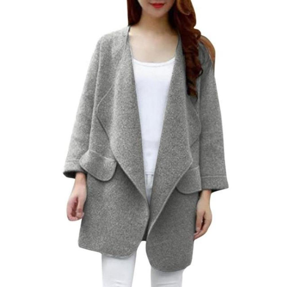 Amazon.com: Feitong Brand Winter Coat - Vintage Knitted Long Cardigan: Clothing
