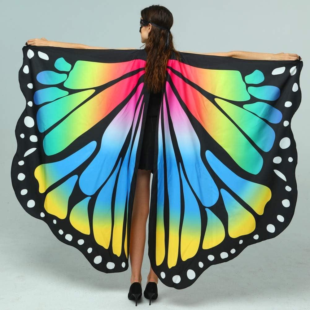 HathaWQ Schmetterlingsfl/ügel f/ür Frauen Schmetterlingsschal Fee Damen Cape Nymph Pixie Kost/ümzubeh/ör f/ür Festivals Halloween Tanzparty