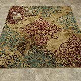 Elegant Collection – Abstract Damask Contemporary Modern Area Rug 5×7 (5'3″ x 7'3″)