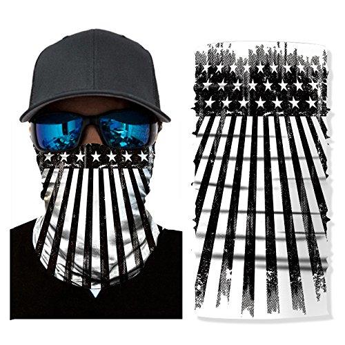 OWMEOT 3D Face Sun Mask, Neck Gaiter, Headwear, Magic Scarf, Balaclava, Bandana, Headband Fishing, Hunting, Yard Work, Running, Motorcycling, UV Protection, Great Men & Women (D)