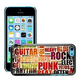Print Motif Coque de protection Case Cover // V00002017 Música de fondo // Apple iPhone 5C