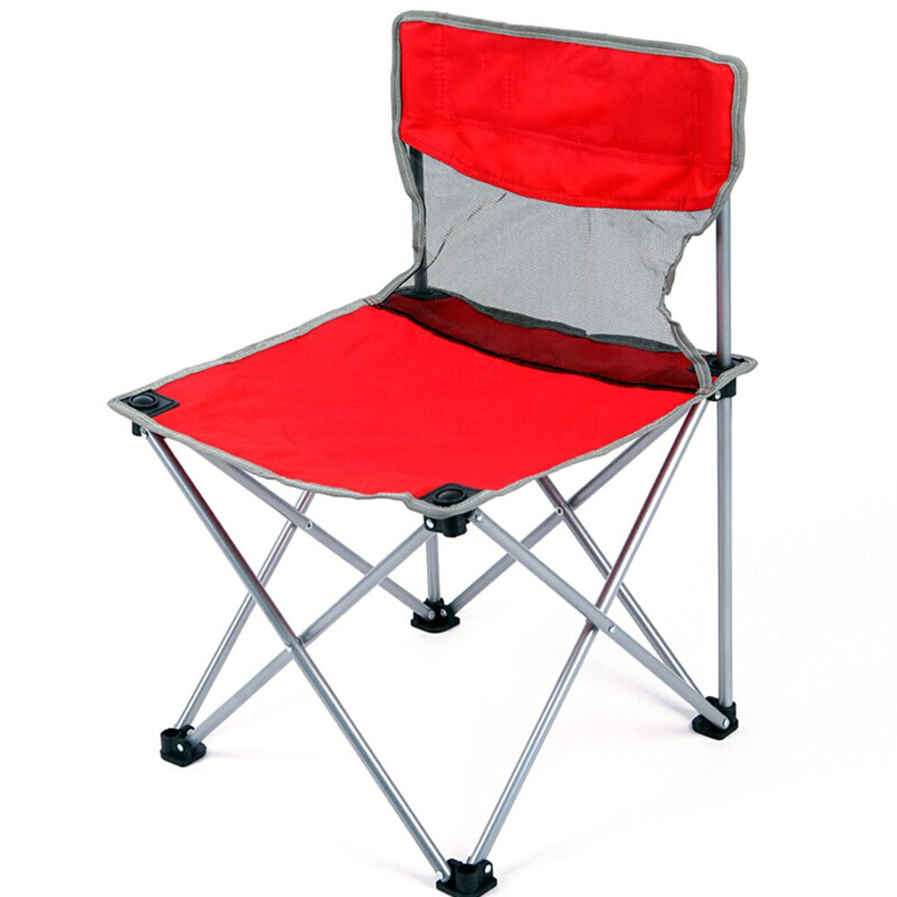 ベンチ 折り畳み式の椅子ポータブル釣りのビーチ背部のレジャーキャンプ用ピクニック椅子 (A++) (色 : 赤) B07DBNYM58 赤 赤