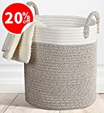 Storage Baskets Large Terracotta Woven Basket, 15' x 15''x 13' Cotton Rope Decorative Baskets for Towel, Laundry, Magzine, Gift Basket