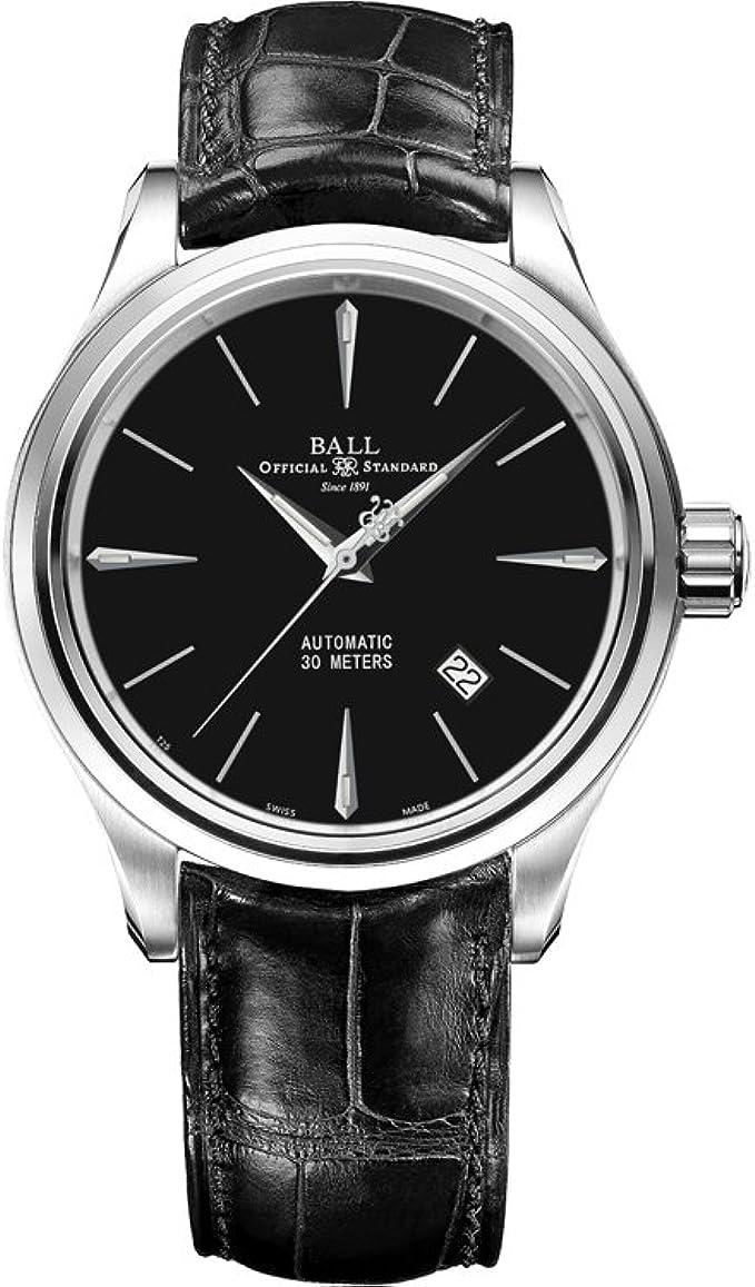 Reloj Ball Trainmaster Legend, Ball RR1103, Negro, Correa de
