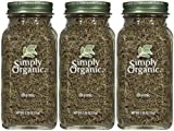 Simply Organic Thyme Leaf Whole Certified Organic, 0.78 oz Containers, 3 pk