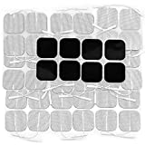 AUVON 2X2 44-Pack TENS Unit Pads, 2nd Gen Latex-Free Replacement Electrode Patches (FDA 510K Cleared) with Upgraded Self-Stick Performance and Non-Irritating Design