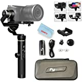 Feiyu G6 Plus 3-Axis Portable Handheld Gimbal Stabilizer (G6 Upgrade Ver 2018) for Gopro,Xiaomi,Yi Cam 4K,Sony Rx0,iPhone X 8 7 Plus,Samsung S9 S8,and Any Cameras Within 800g,Splash Proof 12H Runtime