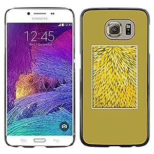 TopCaseStore / la caja del caucho duro de la cubierta de protección de la piel - Yellow Nature Floral Pattern Flowers - Samsung Galaxy S6 SM-G920