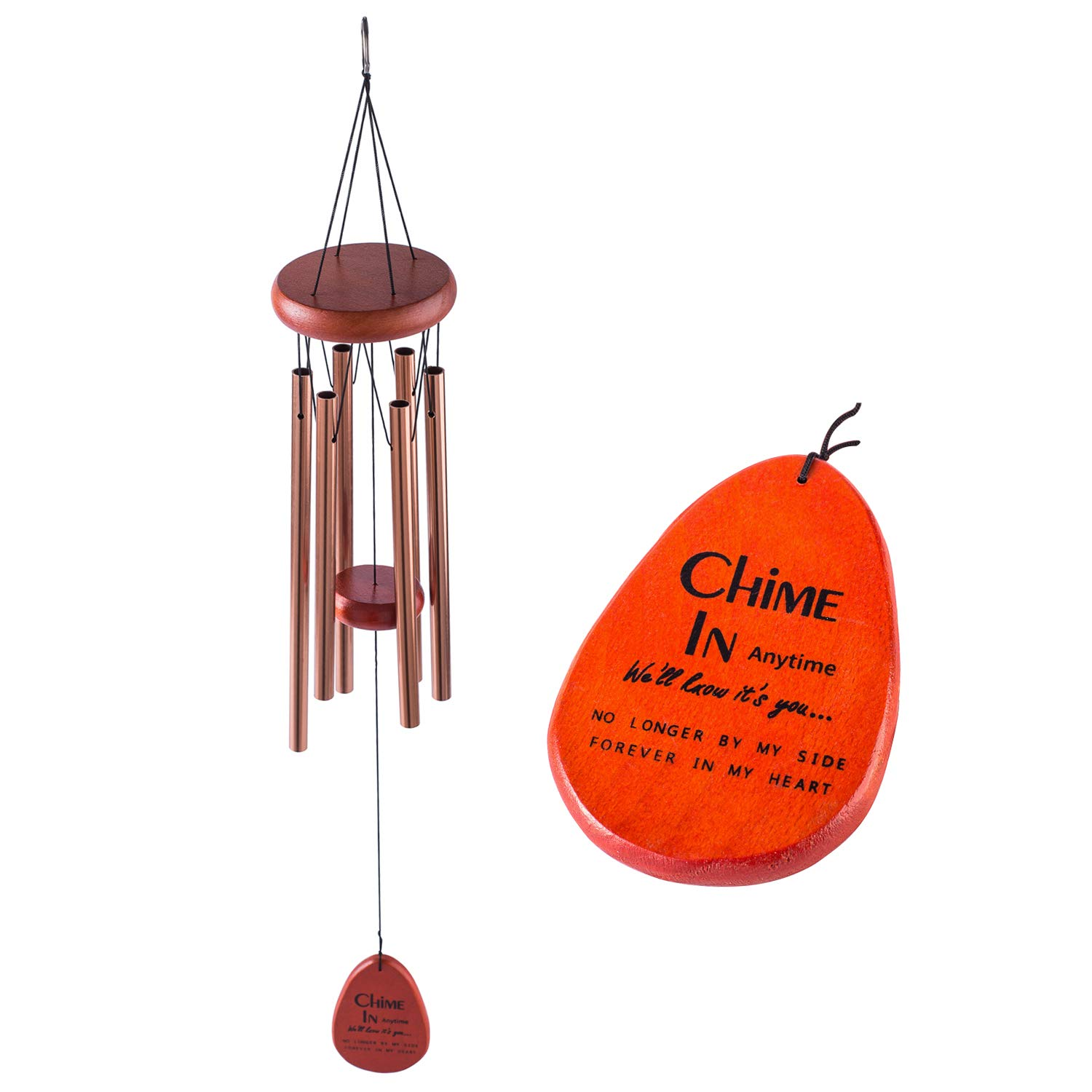 Amazon com sympathy wind chimes gift keepsake chime in anytime well know its you pet supplies