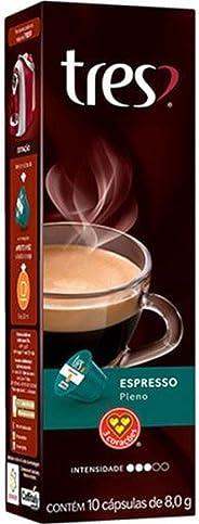 Cápsulas de Café Espresso Pleno Três, Compatível com Três, Contém 10 Cápsulas