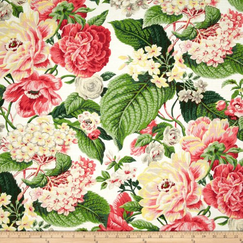 (WAVERLY Floral Flourish Spring Fabric by The Yard )