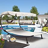 Cheap Coral Coast Del Rey Double Chaise Lounge with Canopy