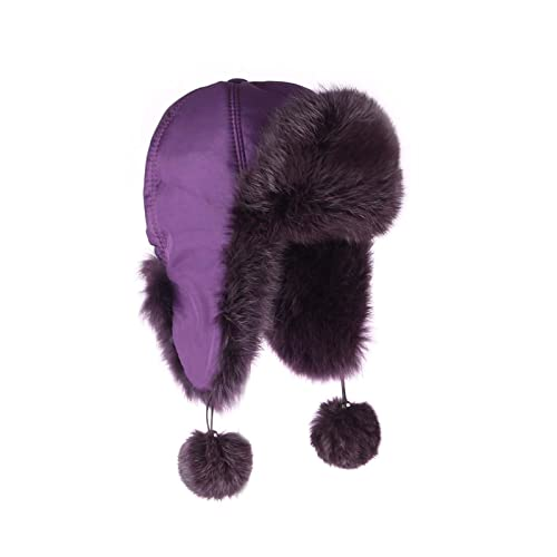OBC Only-Beautiful-Couture - Gorro de aviador - para mujer morado morado Medium