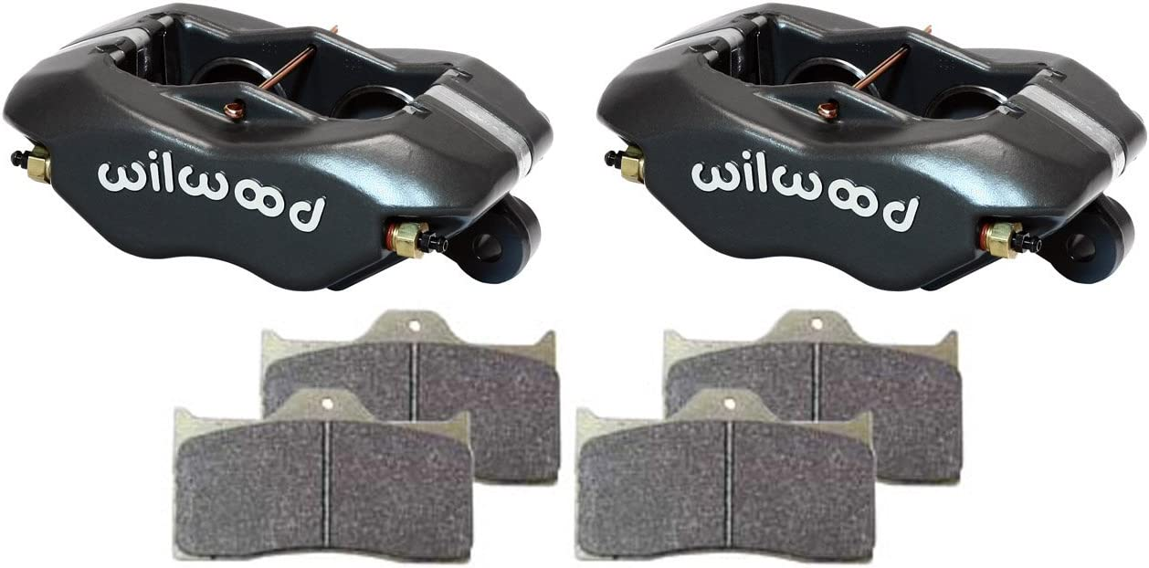 ROAD RACE RALLY RED RACING 1.37 PISTONS NEW WILWOOD FORGED DYNALITE DISC BRAKE CALIPERS /& BP-10 BRAKE PADS FOR 0.81 THICK ROTORS OFF-ROAD STREET ROD CIRCLE TRACK