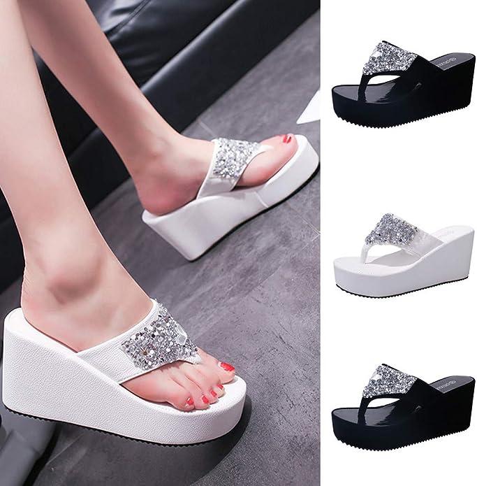 Moonker Womens Fashion Sneakers Mesh Slip On Wedges Platform Walking Shoes Lightweight Sports Tennis Shoes