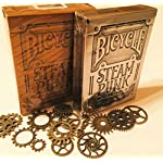 "The ""PUNKED"" 2 Pack, Bronze and Steel, Steam Punk Card Deck (with/punk cogs) 6"