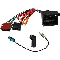 AERZETIX: Adaptador cable enchufes y antena para radio