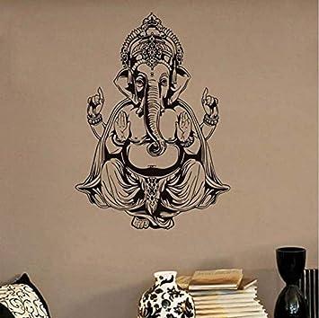 Pegatinas de pared Papel tapiz impermeable Ganesha Elefante ...