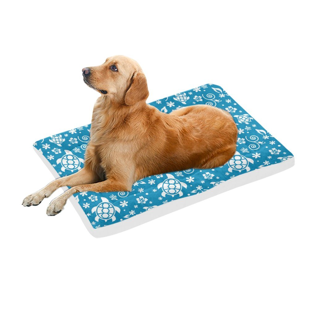 42\ your-fantasia Cartoon bluee Sea Turtle Pet Bed Dog Bed Pet Pad 42 x 26 inches