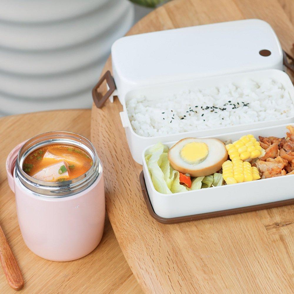 XRXY Mini olla humeante portátil / Niños Taza aislante de alimentos auxiliares / Almuerzo para estudiantes / Vaso de guisado (Color : Pink) : Amazon.es: ...