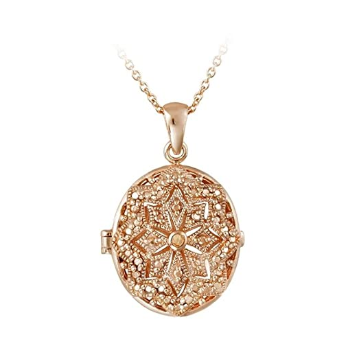 Amazon rose gold tone over brass champagne simulated diamond rose gold tone over brass champagne simulated diamond filigree oval locket necklace aloadofball Choice Image