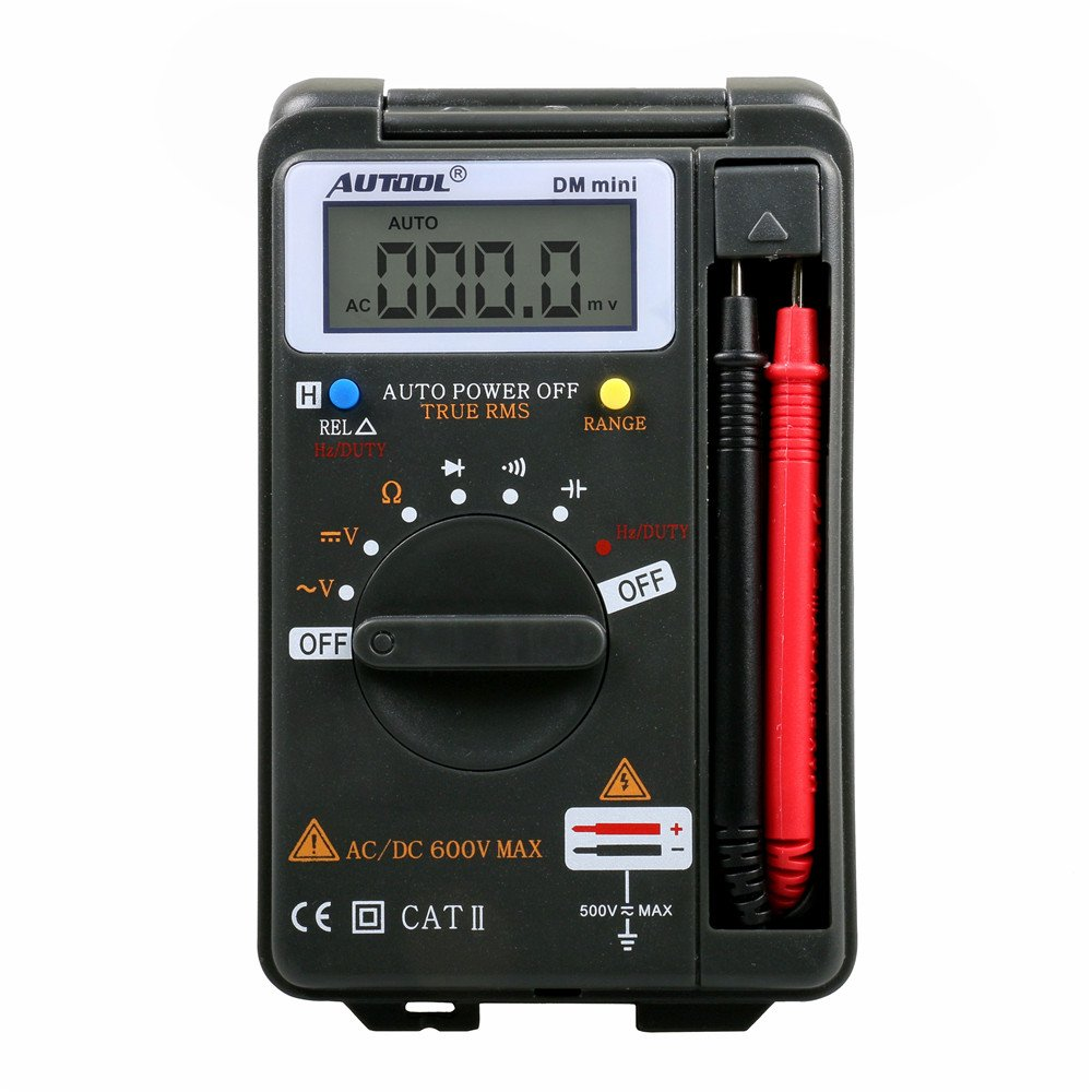 Autool Mini VC921 3//4 DMM AD//DC Multimeter Pocket Digital Multimeter Frequency Tester 4000 COUNTS