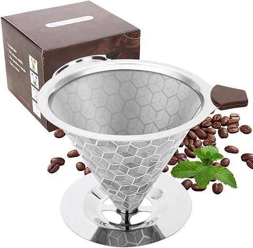 UIEEGPG - Filtro de café permanente de acero inoxidable con forma ...