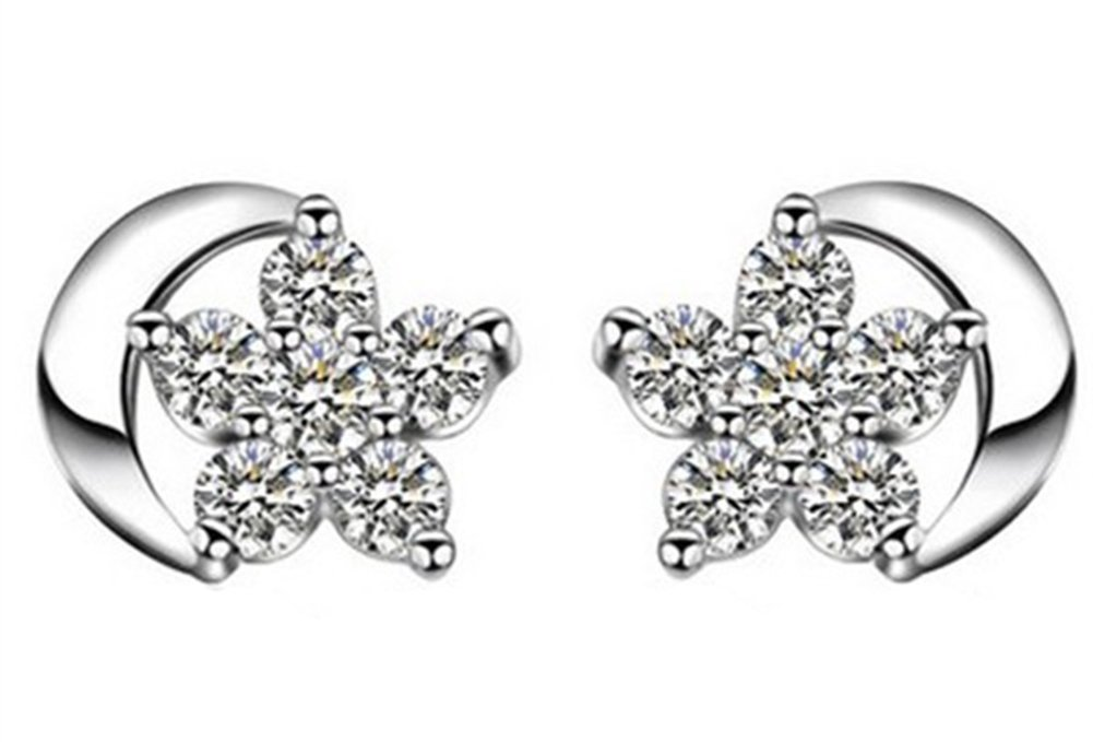 Lovind Star Stud Earring,Fashion Silver Plated Earring Girl Gift Valentine's Day Present