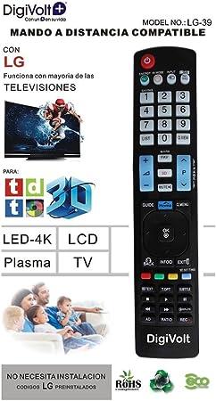 JPWOnline - Mando a distancia compatible con LG Digivolt LG-39: Amazon.es: Electrónica
