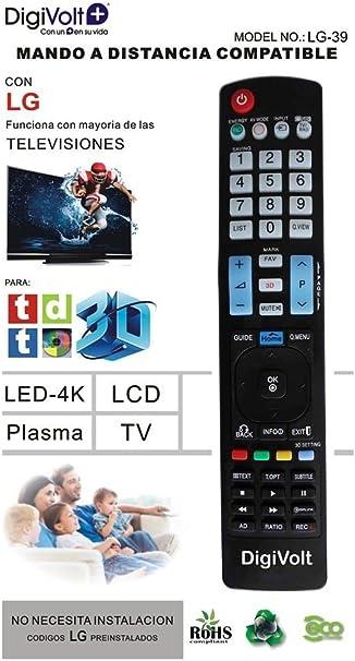 JPWOnline - Mando a distancia compatible con LG Digivolt LG-39 ...
