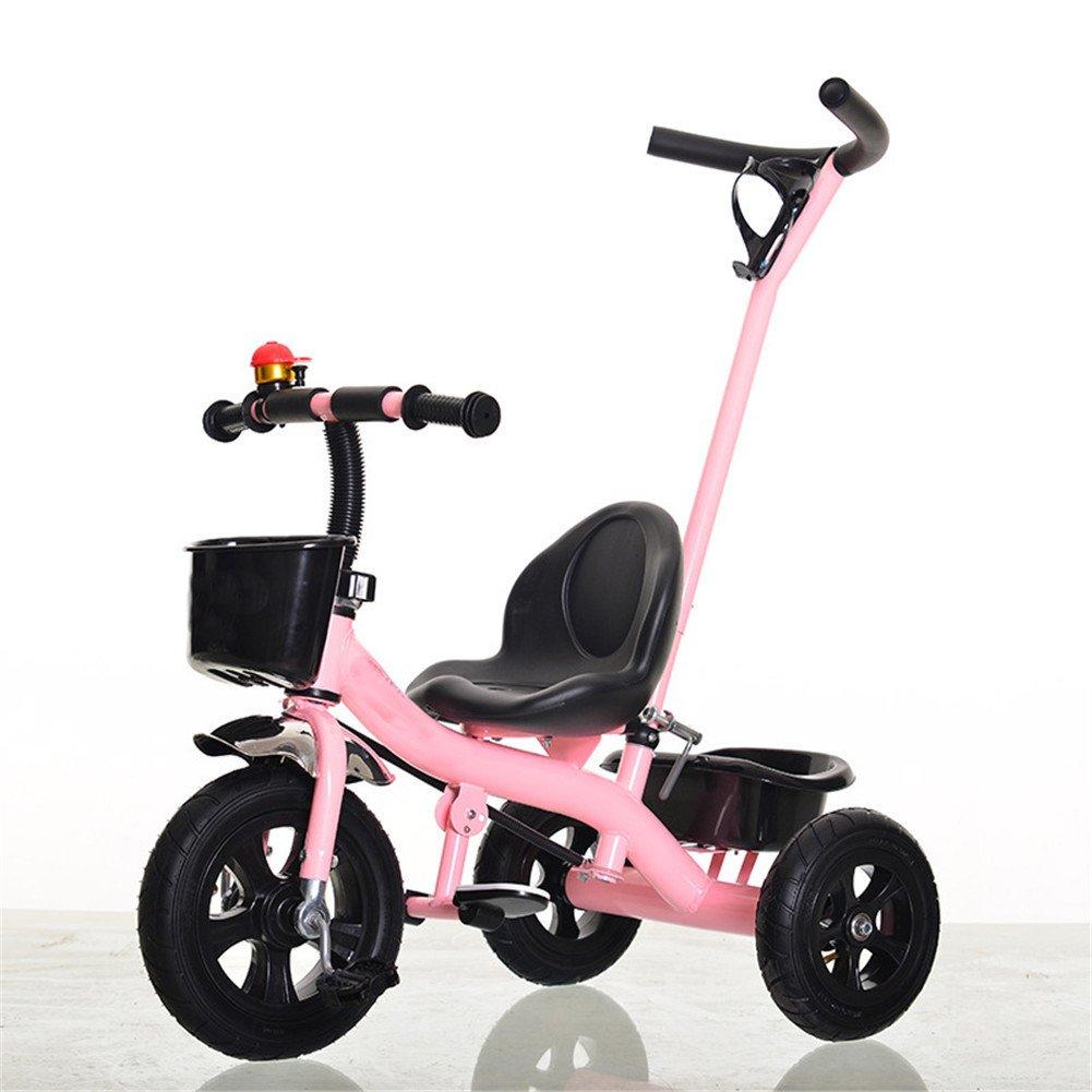 rose  Lvbeis Tricycle Bébé Démontable Canne Enfants Vélo DE 1-5 Ans