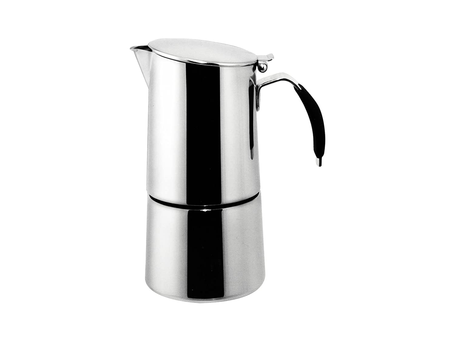 Ilsa Omnia Expresso Coffee Maker with Induction Bottom for 4 Cups Stainless Steel Silver color