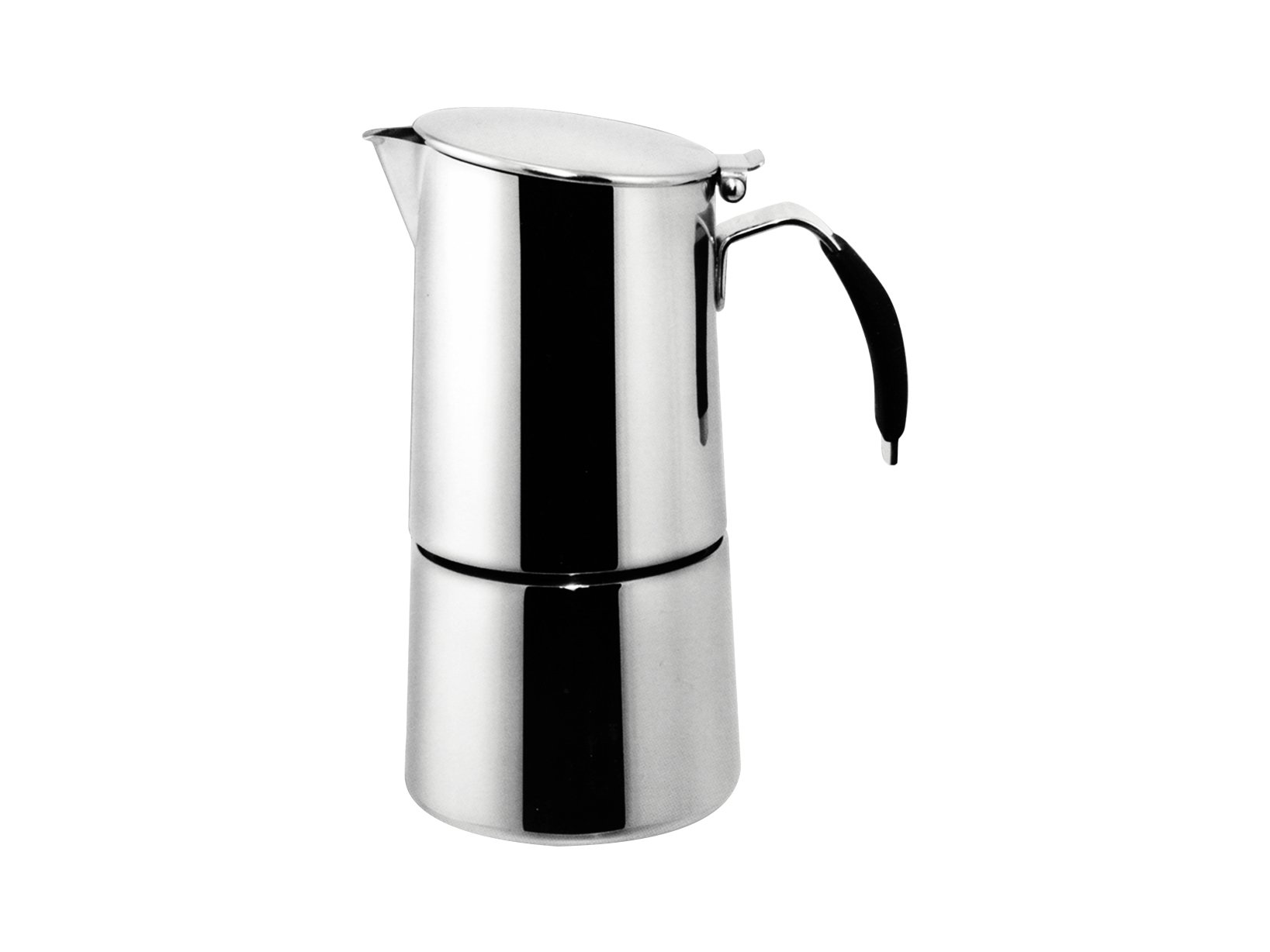Ilsa: Coffee Maker ''Omnia Express'' For Induction - Inox 18/10 4-Cup [ Italian Import ]