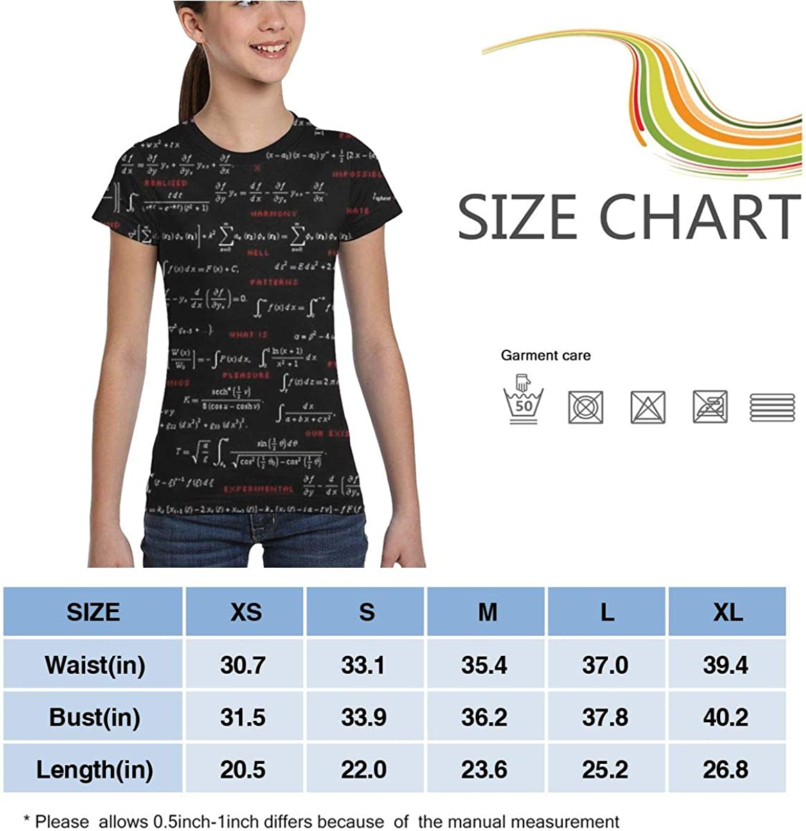 XS-XL L6Nv4o@A Girls Short Sleeve Function Formula Shirts Casual Tunic Shirt Dress