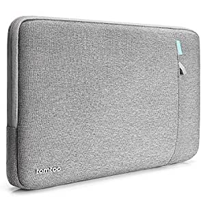 tomtoc 360° Protective Laptop Sleeve for 12 Inch New MacBook with Retina Display, Shockproof, Spill-Resistant MacBook Case Only Fit New MacBook 12 Inch, Support 11.04 x 7.74 in, Gray