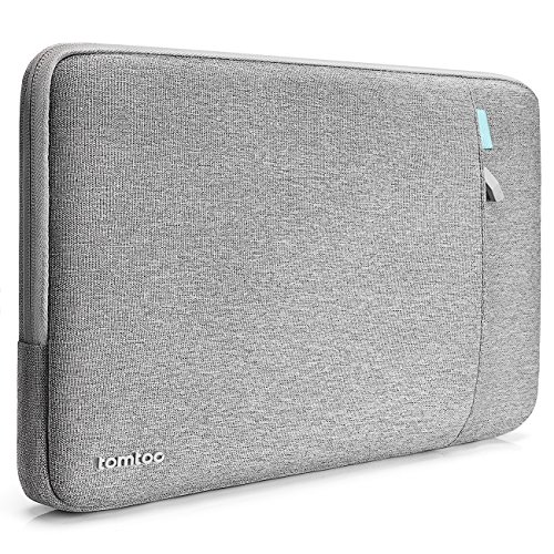 Tomtoc 360° Protective Laptop Sleeve Case Bag for 15 Inch Microsoft Surface Book 2, Spill-Resistant Protective Laptop Tablet Case, Support up to 13.5 x 9.87 In, - 2 Book Side