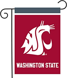 "Briarwood Lane Washington State Cougars Garden Flag NCAA Licensed 12.5"" x 18"""